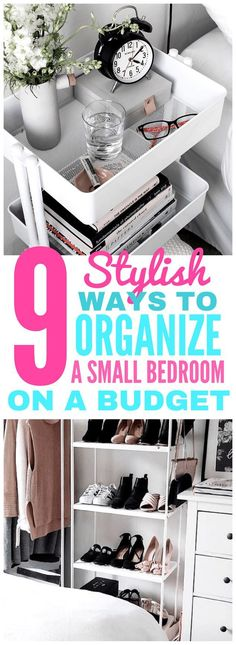 This post will show you how to stylishly organize a small or tiny room on a budget! Check it out!