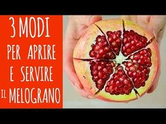 3 modi facili per aprire e servire il MELOGRANO - 3 Easy Ways to Open Pomegranate How To Open Pomegranate, Fruit And Vegetable Carving, Antipasto, Kitchen Hacks, Good To Know, Italian Recipes, Cooking Tips, Cookie Recipes, Watermelon