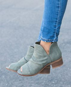 NEW! Canvas booties!