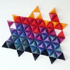 Le mur origami dellelicious