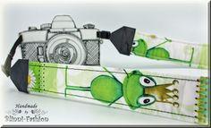 Kameragurt  Froschkönig  Kameraband grün Frosch von BlinniFashion, €29.90