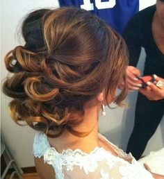 wedding hairstyles ombre curl updo style for wedding