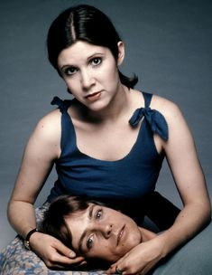 stars of Star Wars: Carrie Fisher and Mark Hamill (1977)