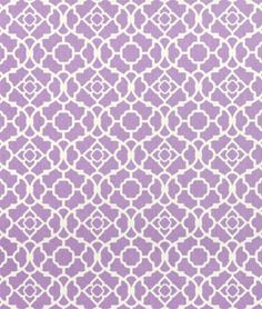 Waverly Lovely Lattice Violet Fabric.