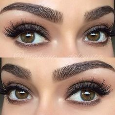 smokey eyes and perfect eyebrows
