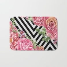 flowers geometric Bath Mat