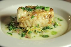 Roast Monkfish with Irish Style Cabbage, Potato Sauce and Scallion Butter.    This stunning recipe is from Episode 1 shot in Belfast by Andy from Mourne Seafood bar. It is the perfect example of Modern Irish cuisine using old classic flavours.