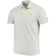 Medium Royal J America NCAA Mens Boise State Broncos Yarn Dye Striped Team Polo Shirt