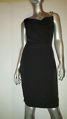 CALVIN KLEIN  Black Stretch Embellished Shoulder Cocktail Dress Sz 6 *Worn Once