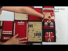 Nhận order scrapbook, love box, thiệp handmade. fb : hanla handmade store ins : scrapbook hanla sms/zalo/viber : 0168 629 4916 Mini Albums, Mini Scrapbook Albums, Scrapbook Paper Crafts, Diy Scrapbook, Scrapbooking, Birthday Explosion Box, Explosion Box Tutorial, Bf Gifts, Paper Quilling Designs