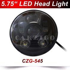 "CZG-545 Black 5.75"" 5 3/4"" LED Headlight for Harley Davidson motorcycles 5.75 inch round H4 Motorcycle led Head light Hi/Lo beam"