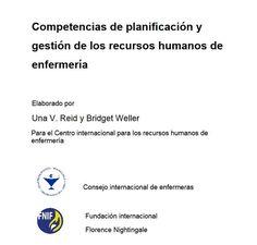 Acceso gratuito. Competencias de planificación y gestión de los recursos humanos de enfermería