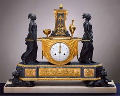 Clock with Vestals. Movement - Pierre-Phillippe Thomire ; Sauvageot C. 1785