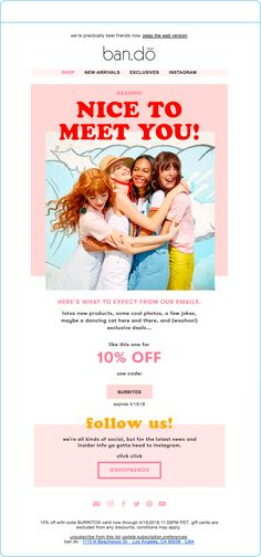 do Welcome email example - Email Marketing Inspiration - - ban.do Welcome email example Marketing Blog, Best Email Marketing Software, Email Marketing Design, Email Marketing Campaign, Event Marketing, Marketing Quotes, Marketing Ideas, Digital Marketing, Email Template Design