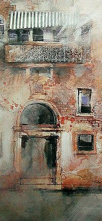 Watercolor and Mixed Media Painting Demonstration