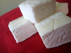 Homemade Marshmallows - some can be made with chocolate, raspberry, etc too (see further marshmallow recipes at the end of article)