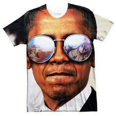 T Shirts - Obama Anime Tee Round Sunglasses, Mirrored Sunglasses, Mens Sunglasses, Obama, Short Sleeves, Unisex, Tees, T Shirt, Japan