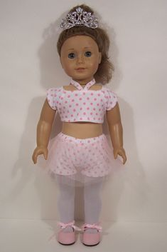 Debs PURPLE Sleeveless Gymnastic Dance Leotard Doll Clothes 4 American Girl 18/""