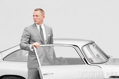 Daniel Craig as James Bond in Skyfall, suit by Tom Ford.