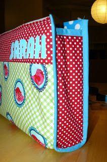 hilde@home: Een toiletzak ... met handleiding Beauty Case, Diaper Bag, Knit Crochet, Lunch Box, Textiles, Purses, Knitting, Fabric, Kids