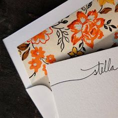 Personalized stationary from http://www.julieblanner.com/