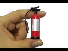 diy miniature fire extinguisher for dollhouse garage or workshop - can be adapted to smaller scale