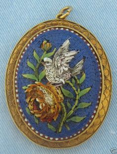 Fine Victorian Micromosaic Italian Pendant
