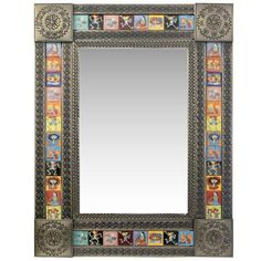 Talavera Tile Mirrors Collection - Talavera Tile Mirrorw/ Day of the Dead Tiles - TMIR902