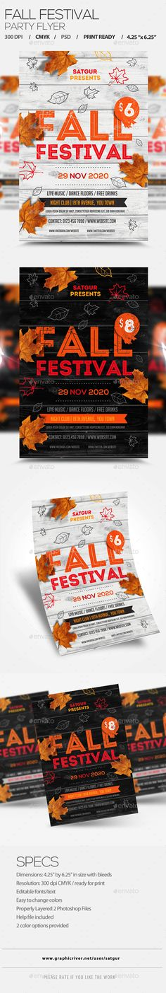 Autumn   Fall Flyer More Autumn fall and Flyer template ideas - fall flyer