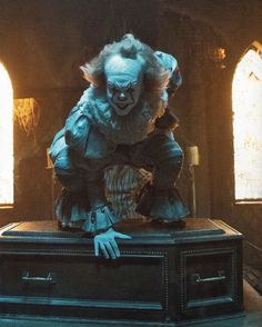 pennywise the dancing clown Clown Horror Movie, It The Clown Movie, Arte Horror, Horror Movies, Horror Art, Penny Wise Clown, Stephen King Film, Bill Skarsgard Pennywise, It Movie 2017 Cast