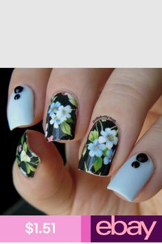 Pin by peyton swanson on nails uñas florales, uñas decoradas Cute Nail Art, Cute Nails, Pretty Nails, Nail Designs Spring, Cute Nail Designs, Pretty Designs, Simple Designs, Fabulous Nails, Gorgeous Nails