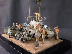 DAK and Ramcke brigade prepare to action, 1/35 scale by ademodelart