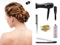 "Nothing says glamour like a Deconstructed Chignon. Here's HOW TO from stylist Jill Crosby: Blowdry hair with the T3 Featherweight Luxe 2i & Antigravity 2.5"" Barrel Brush. Backcomb the crown for extra volume. Smooth the front section with the T3 SinglePass Iron, but do not straighten the crown & back. Sweep hair back, tie into a knot 3 times, then fold the section over and pin it in so it stays secure using bobby pins. #T3RedCarpetHair #Sephora @T3 Micro"