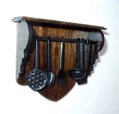 Kitchen Utensil Rack Black Wrought Iron Medieval by CalicoJewels, $36.00