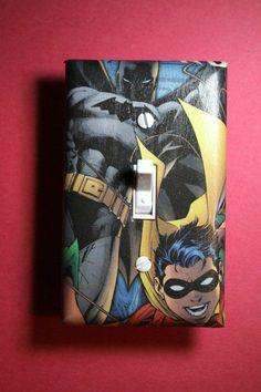 chambre à coucher Comic Super Héros mini Logo Light Switch surround Marvel DC salle de jeux