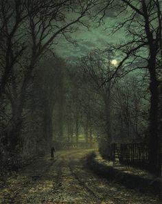 A Yorkshire Lane in November by John Atkinson, 1873 via riotclitshave