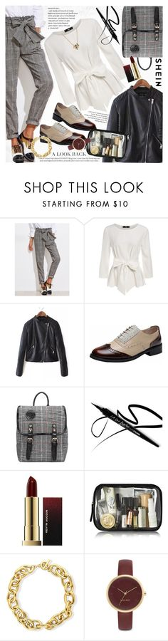 """""""Oxford style"""" by vanjazivadinovic ❤ liked on Polyvore featuring BERRICLE, Nine West, David Yurman, Sheinside, stripedpants and polyvoreeditorial"""