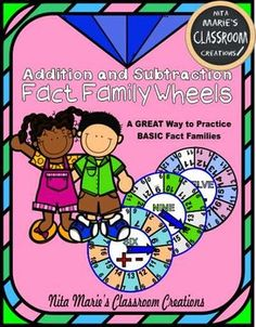 Fact Family Fun!   Fact Family Practice!    Fact Family Engagement!   Fact Family Mastery!  NEW!!!Students love my Addition and Subtraction Fact Family Wheels!  Addition and Subtraction Fact Family wheels provide a fun way to master fact families, basic addition, and subtraction facts.
