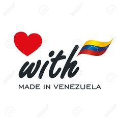 Love With Made in Venezuela logo icon Stock Vector - 82820894