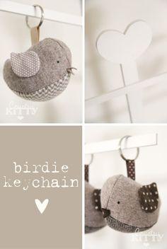 Birdie Key Chain