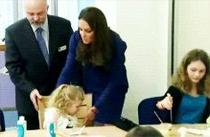 """The """"Mummy"""" in the Duchess just had to get the little one straightened up in her chair to paint! Nice, reminds me of someone else..."""