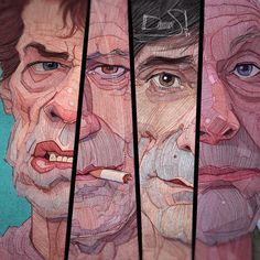 The Fabulous Rolling Stones, detail. Old work. #ronniewood #therollingstones #guitar #guitarist #best #face #famous #caricature #colorful #pencildrawing #illustration #sketch #portrait #music #rock #instagood #instagram #like #follow #art #fun #cool #stavrosdamos #art #artist #wacom #colorful #keithrichards #charliewatts #mickjagger