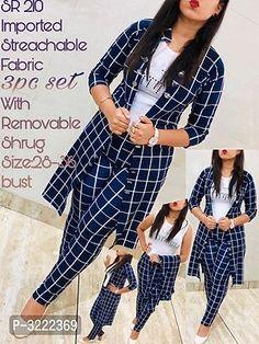 Girls Fashion Clothes, Women's Fashion Dresses, Girl Fashion, Fashion Wear, Fashion Pants, Hijab Fashion, Lehenga Designs Simple, Kurta Designs, Latest Dress Design