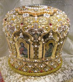orthodox mitre by Blazhko's gold embroidery, via Flickr