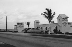 South Seas Site of Jupiter/Juno Ranch [via Morris Foster and Jupiter Old Days by Rob Thomson] Vintage Florida, Old Florida, South Florida, Juno Beach Pier, Hialeah Florida, Jupiter Florida, South Seas, Motel, Wonderful Places