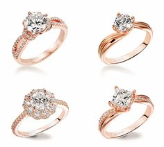 27 Gorgeous Rose Gold Engagement Rings - Praise Wedding