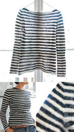 Anleitung  Attraktiven Pullover stricken – in einem Stück  f97dbd982d9b