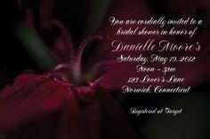 Custom red flower bridal shower invitation personalized digital file | ShorelineDesignz - Digital Art  on ArtFire