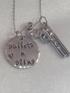 Bullets n Bling Necklace  Gun Jewelry  by ExquisiteStampDesign