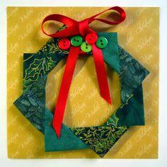 Leuk dat je langskomt om te kijken. Dit keer is het een kerst-krans. Het is het vierde en laatste ideetje voor een kerstka...